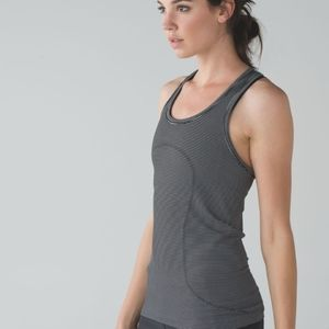 Lululemon swiftly Racerback stripe 6 *flawed